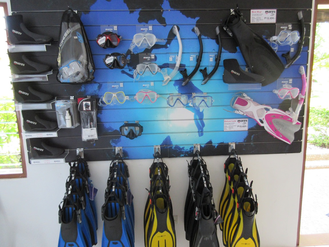 Snorkeling Equipment section of Kasai