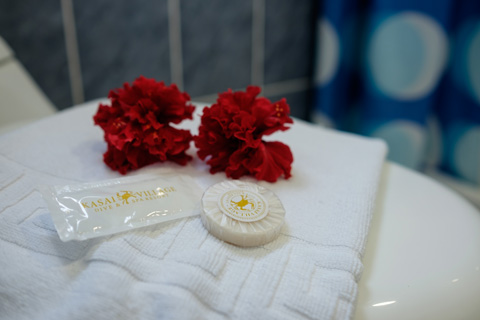 Supplementary toiletries are included in every Pool View Deluxe Room