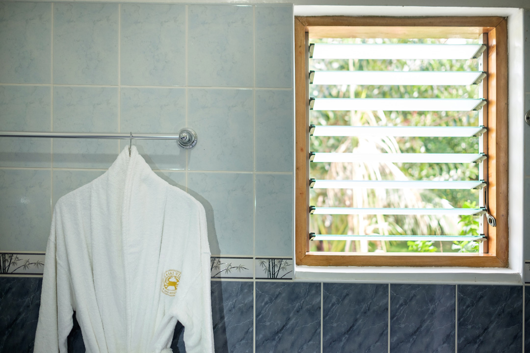 Bathrobes are provided to each guests when staying in any of the Sea View Deluxe Rooms